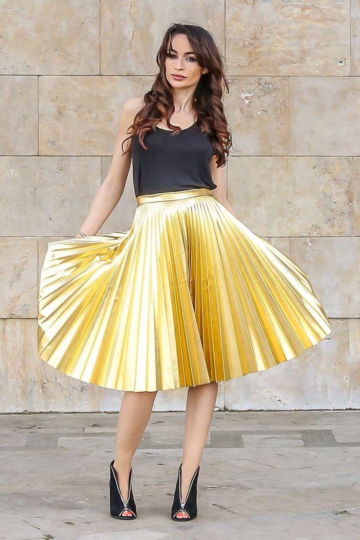 "Fustă ""Metallic Skirt"" | HerWay.ro"