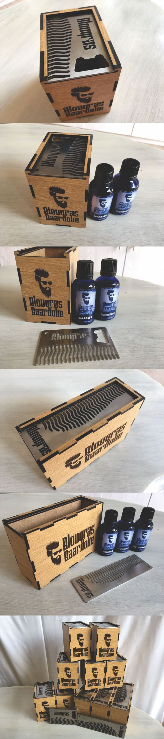 Our gift box sets are here!!     Credit Card Stainless Steel #BeardComb + 2 x 30ml #BeardOils of your choice + Wooden #Gift Box = R400     Long Stainless Steel #Beard #Comb + 3 x 30ml of your choice + Wooden Gift Box = R580     (prices exclude courier/delivery charges)     LIMITED STOCK. CALL NOW!! 084 545 4016