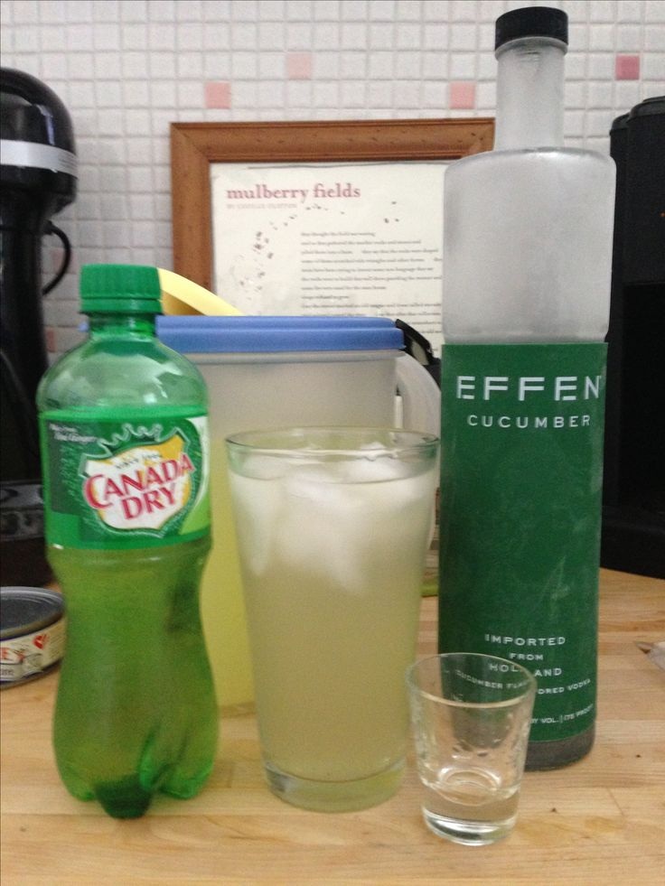 Credit goes to Crosby's Kitchen for the idea, but cucumber vodka + lemonade + ginger ale is delicious!