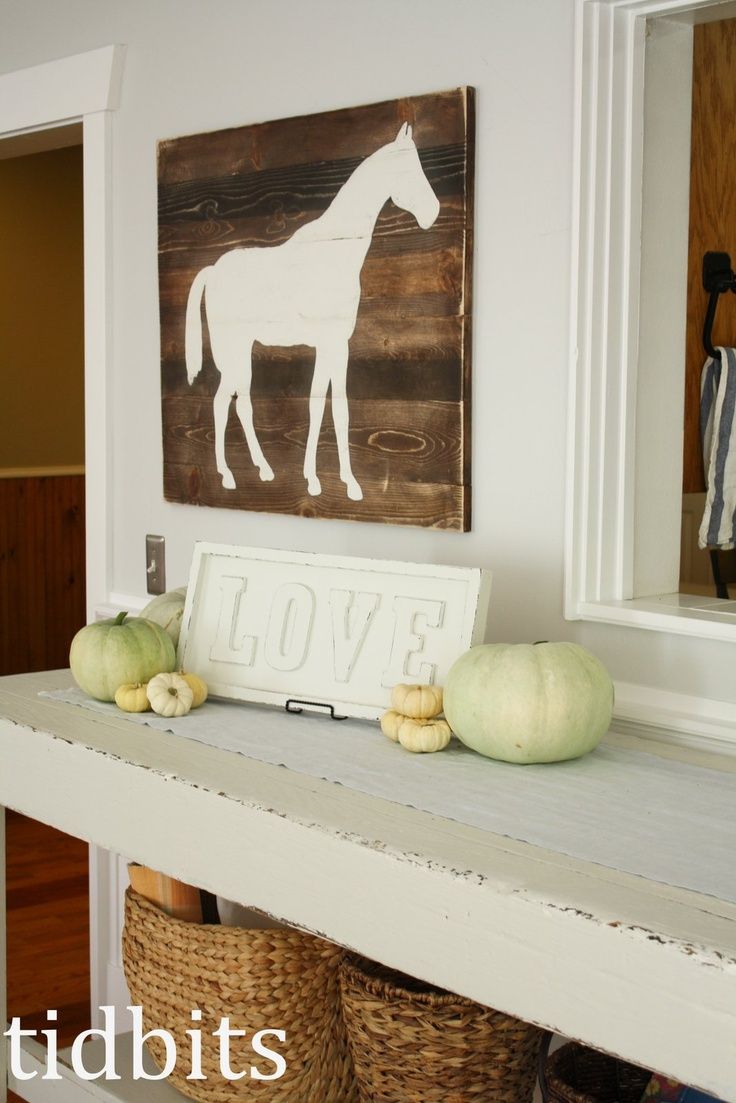 Horse sticker wall art - Tidbits Living Room Tour Horse Print And License Plate