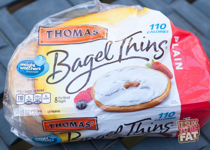 Thomas Bagel Thins - Only 3 Weight Watchers points plus and so deelish!