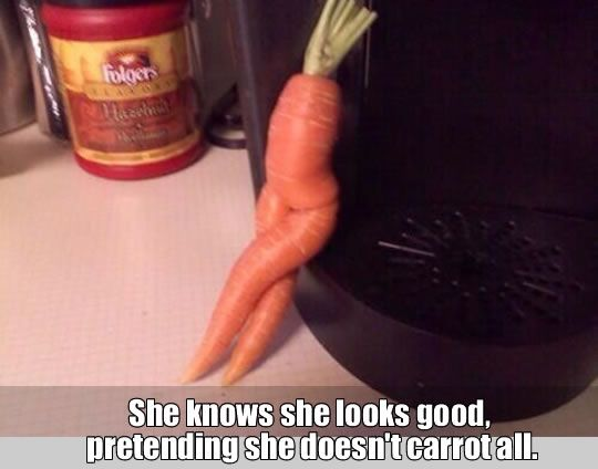 Carrots puns: #1 This Carrot is sexier than most of us. #2 You want a challenge? I will give you a challenge. #3 Emotional carrot.