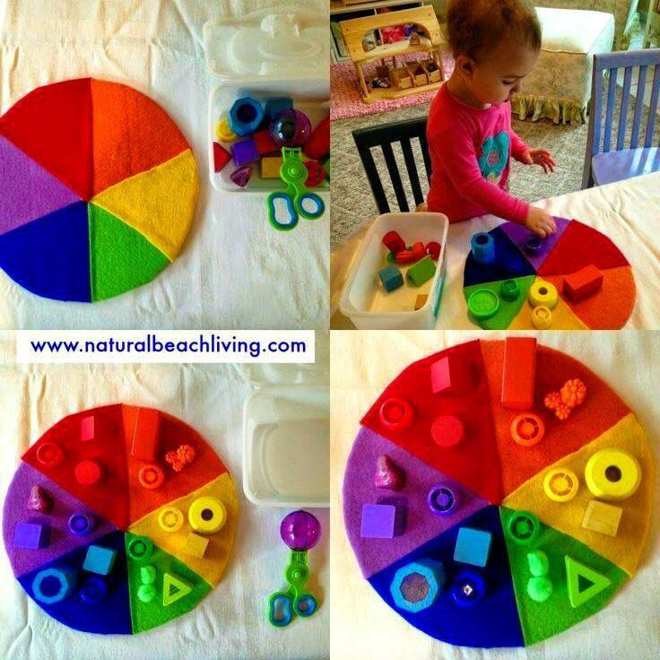 Make this wheel.. Maybe with some felt Velcro shapes instead to stick to the wheel