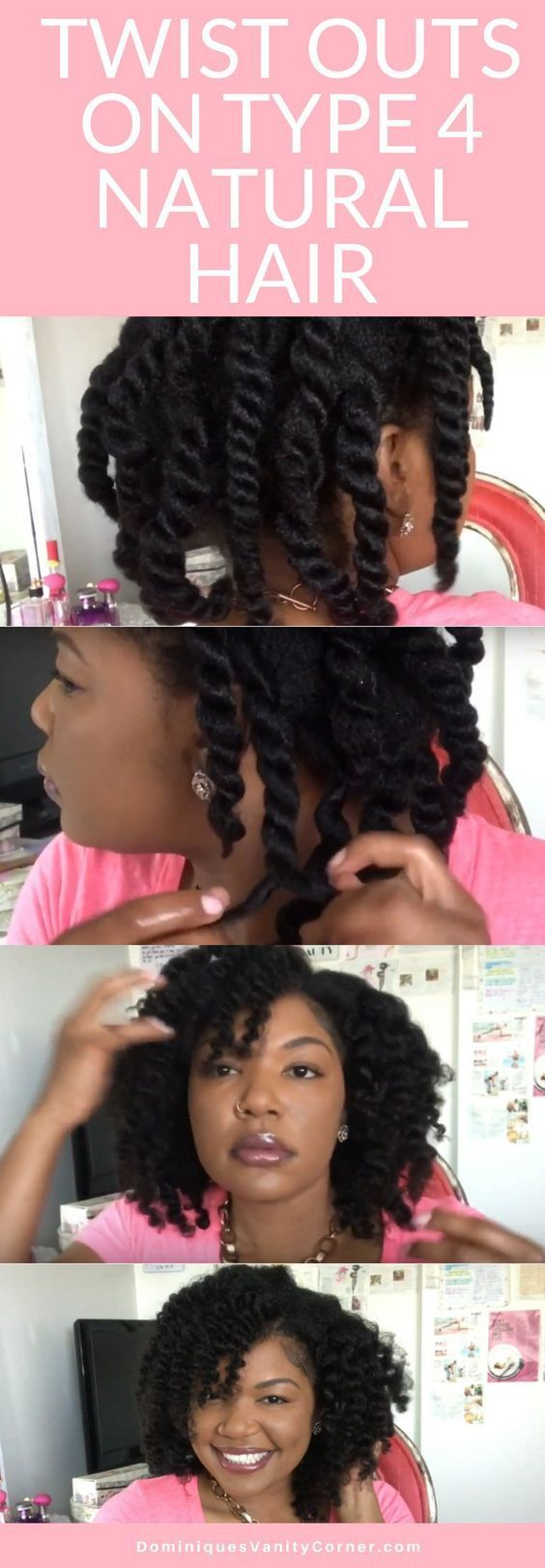 Twists outs on type 4 natural hair