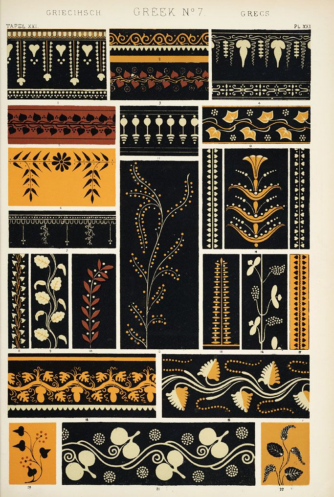 Jones, Owen, 1809-1874. / The Grammar of Ornament / Greek No. 7... maybe my favorite