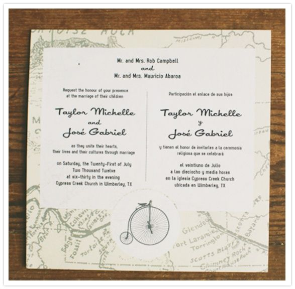 Bilingual Wedding Invitations is an amazing ideas you had to choose for invitation design