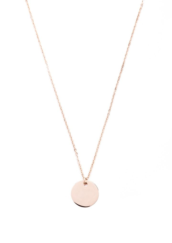 The gold plated circle necklace is very minimalistic, simple and modern looking. You can easily style and wear this stunning necklaces with any of your looks.