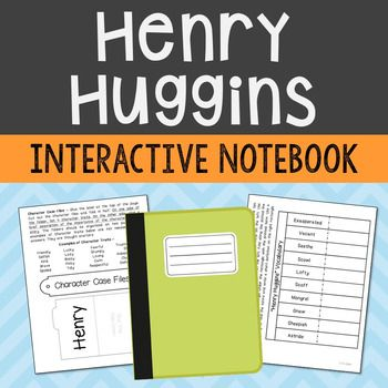 Henry Huggins by Beverly Cleary Interactive Notebook Novel Unit Study - Low Prep and Stress-Free. If you're looking for higher level hands-on activities that don't include boring multiple choice tests, then this is it! Included in this resource is an art poster