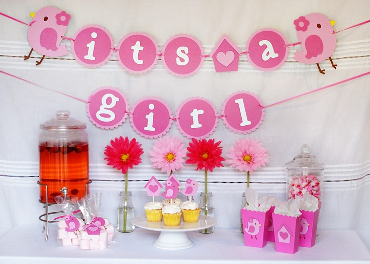 Baby Shower Decor Packages ~ Sweet tweet bird baby shower package via etsy