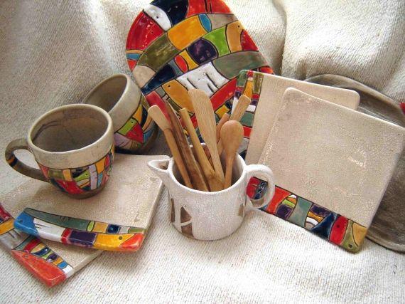 Platos Vajilla Artesanal Casa 6909 Ceramica