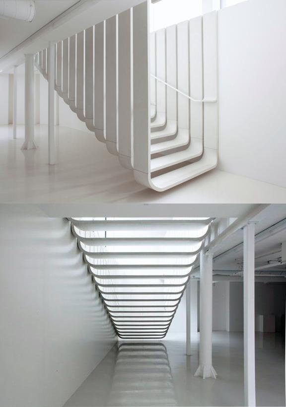 escalera dise ada por zaha hadid architects escaleras