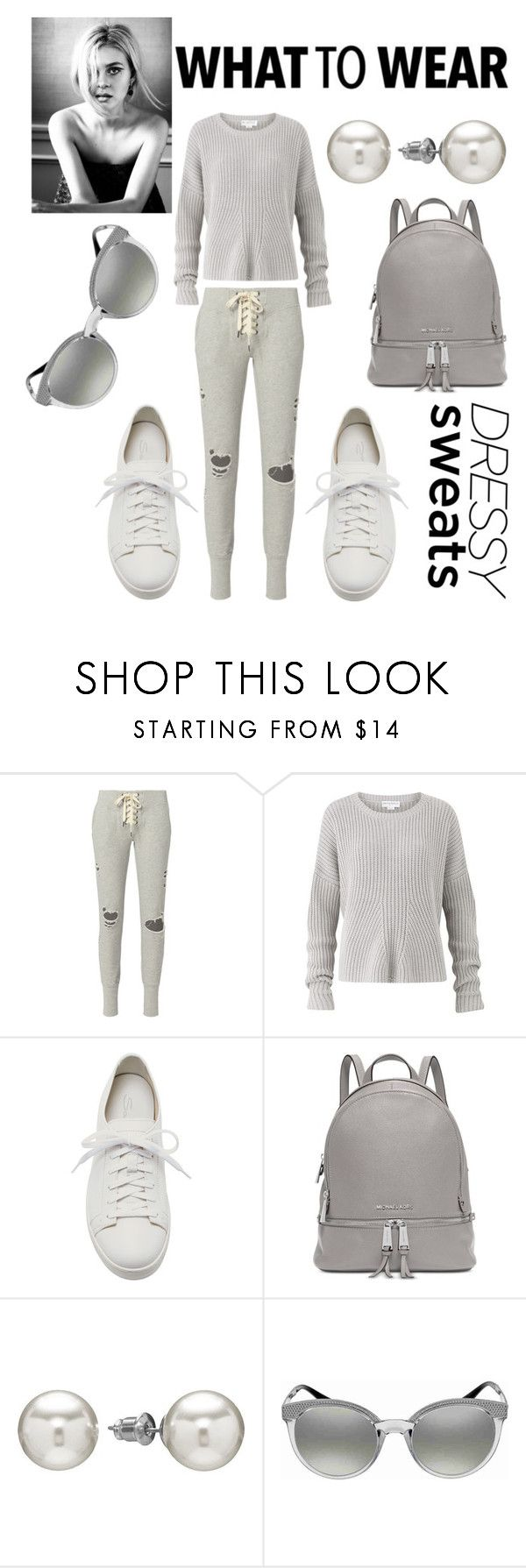 """""""What to wear."""" by ana-silva-386 ❤ liked on Polyvore featuring NSF, Amanda Wakeley, Santoni, Michael Kors, Chaps, Versace and sweatpants"""