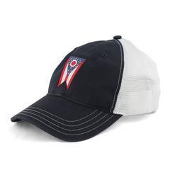 Ohio Flag Washed Mesh Snap Back Hat
