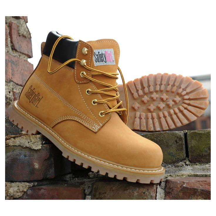 Safety Girl Steel Toe Waterproof Womens Work Boots - Tan