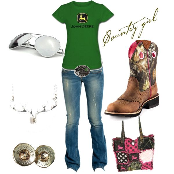 John Deere green by southernsammy on Polyvore ~~country fashion~~