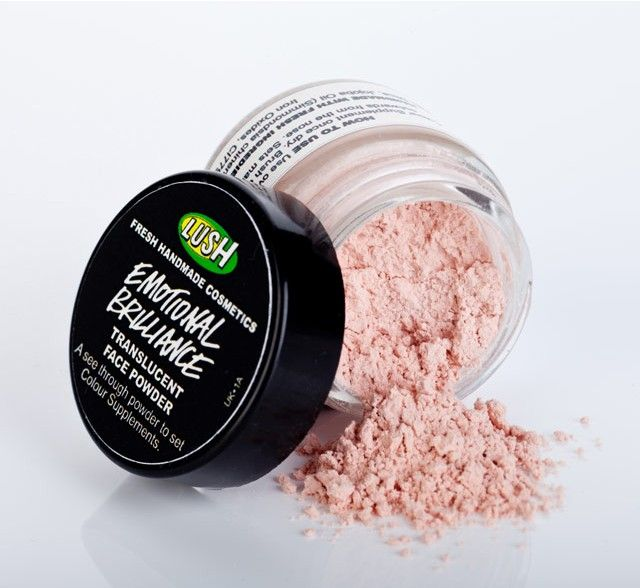 "Lush Emotional Brilliance - keeps skin matte for a very long time, even if you have greasy skin. Really?? I'll have to give it the ""Emma's oil slick challenge!"""