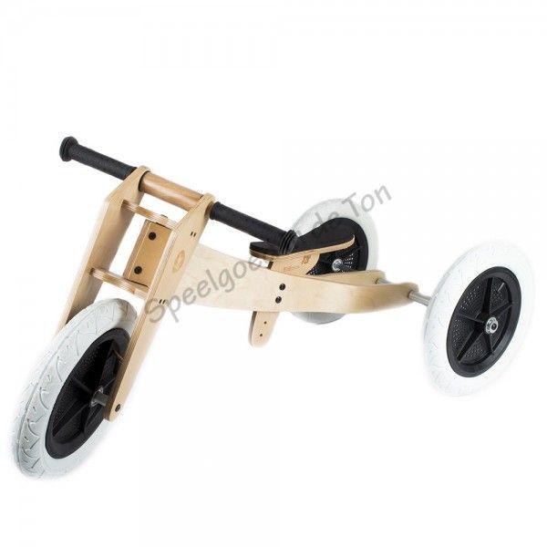 Wishbonebike houten loopfiets 3 in 1   175€