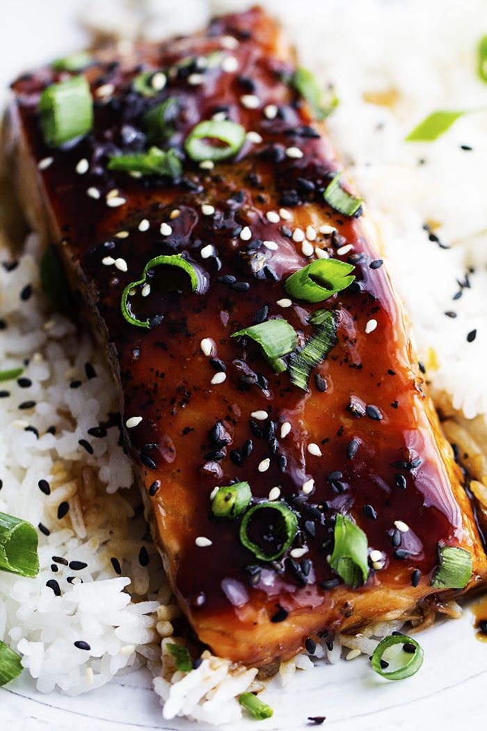 Add some Asian-inspired flavor to your weekly menu with this #easy-to-prepare Baked Sesame Teriyaki Salmon recipe. Your family will thank you.