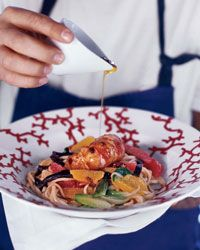 Lobster with Udon Noodles, Bok Choy and Citrus Recipe on Food & Wine