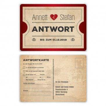 8 besten Antwortkarten individuell zur Hochzeit als Postkarten