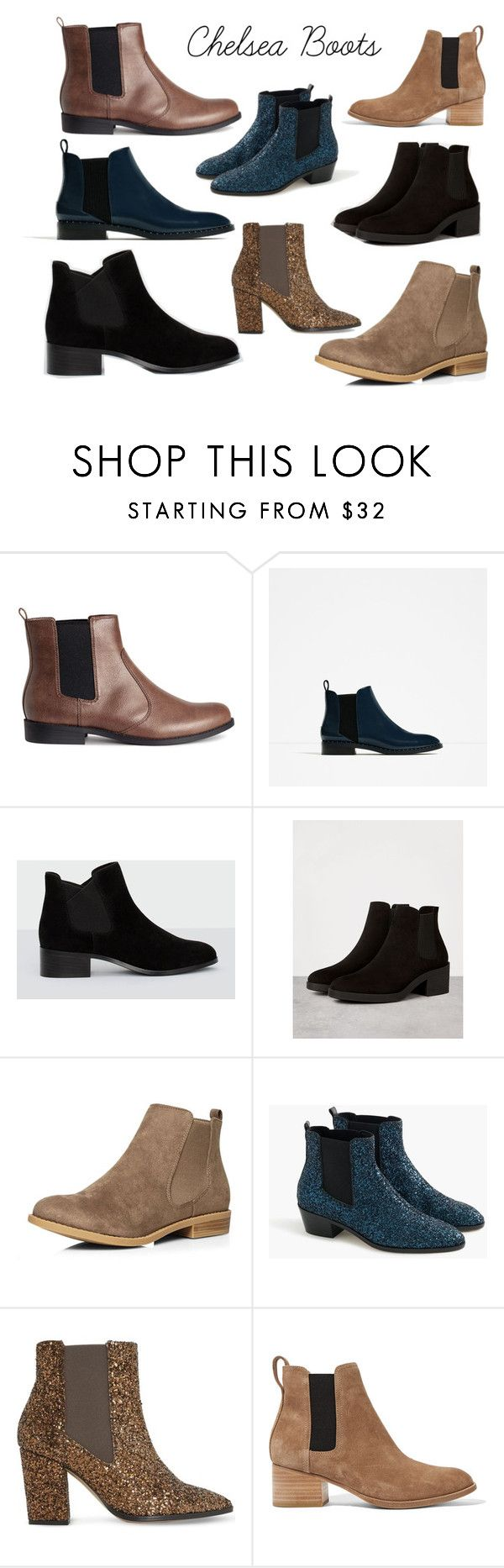 """Chelsea Boots #2"" by bloguerosa on Polyvore featuring H&M, Bershka, Dorothy Perkins, J.Crew, Dune and rag & bone"