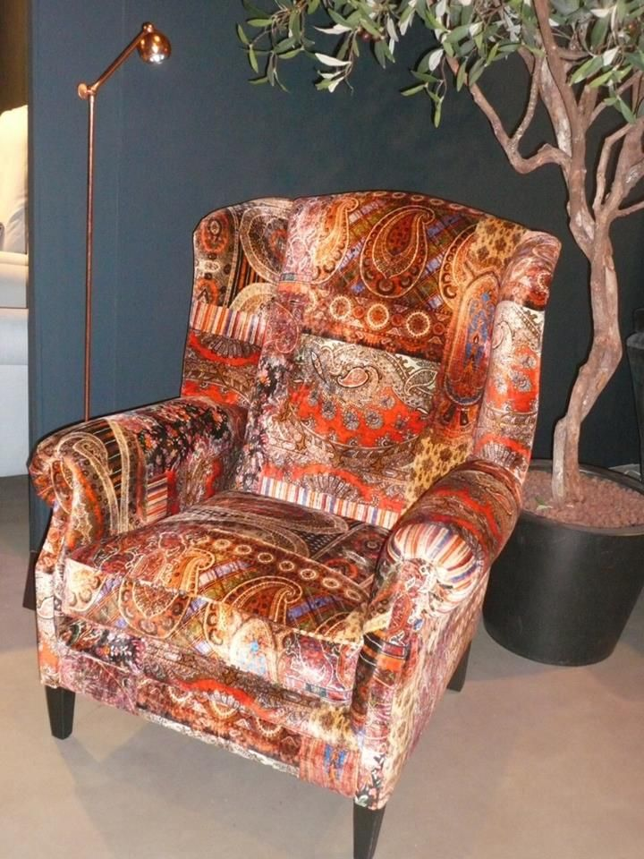 Armchair Is Lomond Velvet Spice By Mulberry Home