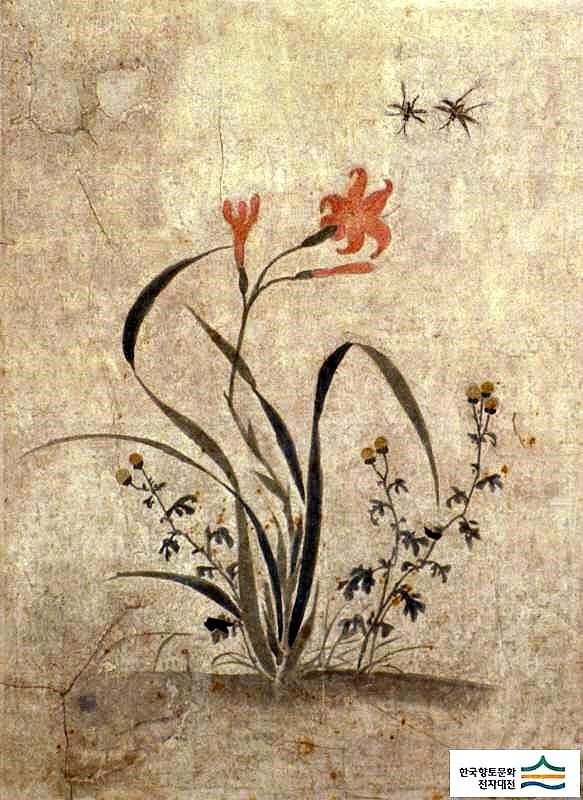 (Korea) Folder Screens by Lady Shin Saimdang (1504- 1551). 48.6×35.9cm. ca 16th century CE. colors on paper. Ojukhyeon Museum.