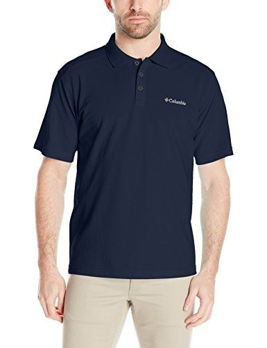 Columbia Men's Elm Creek Polo Shirt, Collegiate Navy, X-Large:   Clean and classic, this outdoor-loving polo tee sports a sweat-wicking fabric that transmits moisture away from the skin to keep you dry and comfortable during physical activity and UPF 15 for bonus sun protection.