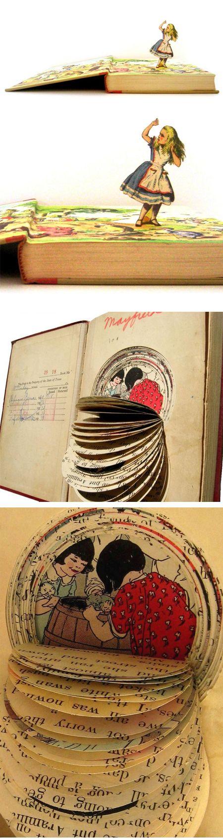 Jennifer Khoshbin  A very interesting take on vintage books... love it!