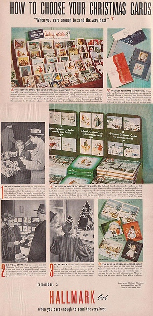 When you care enough to send the very best. vintage Christmas cards ad 1940s