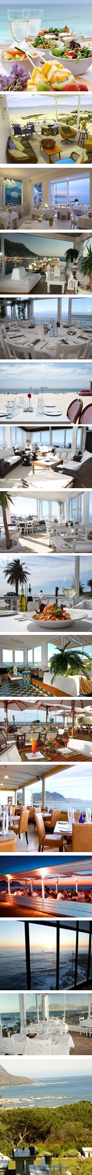 Restaurants with sea views in South Africa