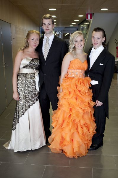 """Vanhojen tanssit or Wanhojen tanssit (""""ball of the (new) seniors""""), 2012 in Tampere, de äldstes dag in Swedish (""""day of the (new) seniors""""), is a formal prom held in Finnish upper secondary schools (lukio) during the second year. It is a celebration of when the second-year students (of the three-year lukio) become the seniors of the school. Photo: Aamulehti"""