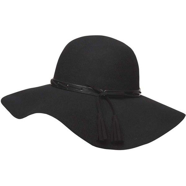 Dorothy Perkins Black Whipstitch Floppy Hat ($29) ❤ liked on Polyvore featuring accessories, hats, black, floppy hat and dorothy perkins