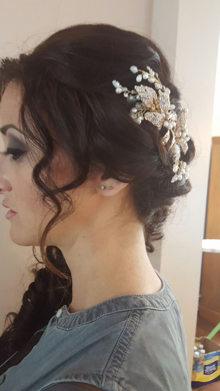 Hair ornaments for bridal updo