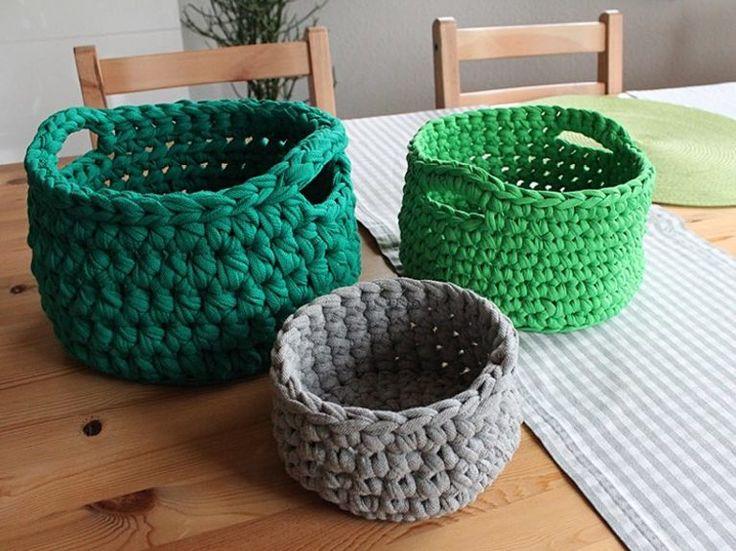 Kostenlose Anleitung: Utensilo mit Tragegriff häkeln / free diy crocheting…
