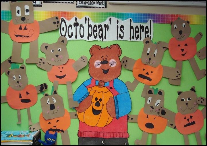 October-Bear activities..1st grade