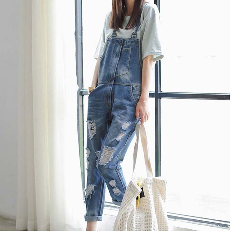 ==> [Free Shipping] Buy Best Denim Jumpsuit Overall Women Summer Jeans Romper Playsuit Online with LOWEST Price | 32655569307