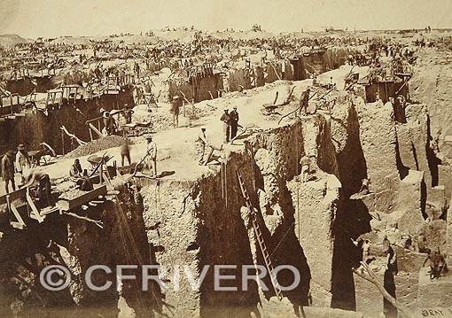Mina de diamantes en Kimberley, Sudáfrica en 1872