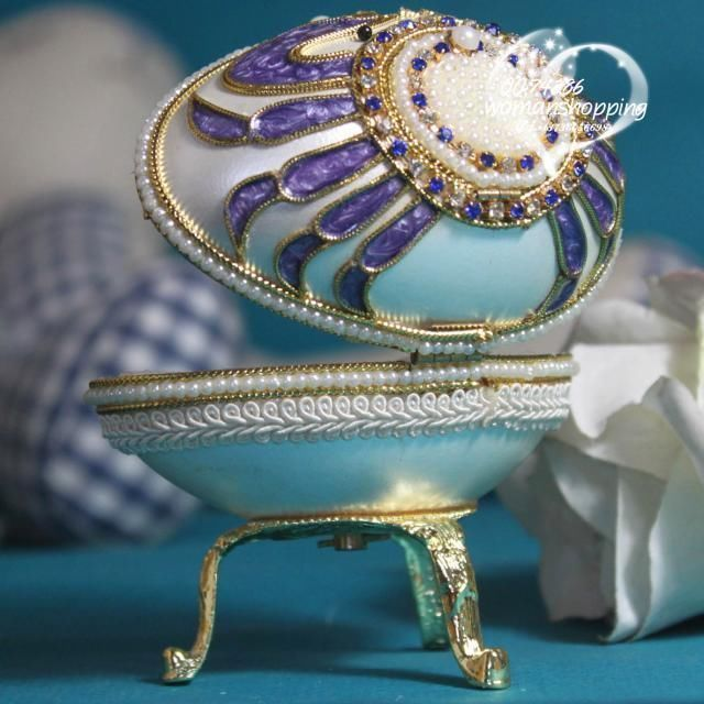 Teal purple crab Faberge style Russian carved egg music box free shipping e09 on AtomicMall.com http://atomicmall.com/view.php?id=2287299_source=Twitter_medium=ProductToools