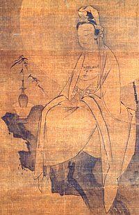 Byakue Kannon (White-Robed Kannon), Kamakura Era, Nara National Museum