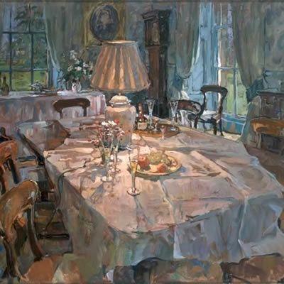 Susan Ryder, RP NEAC (English) 'The Dining Room Lamp'