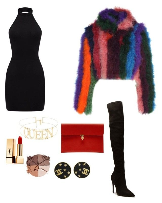 """""""Shop Synovia"""" by synovia-owens on Polyvore featuring Moschino, Alexander McQueen, Yves Saint Laurent, lilah b. and Chanel"""