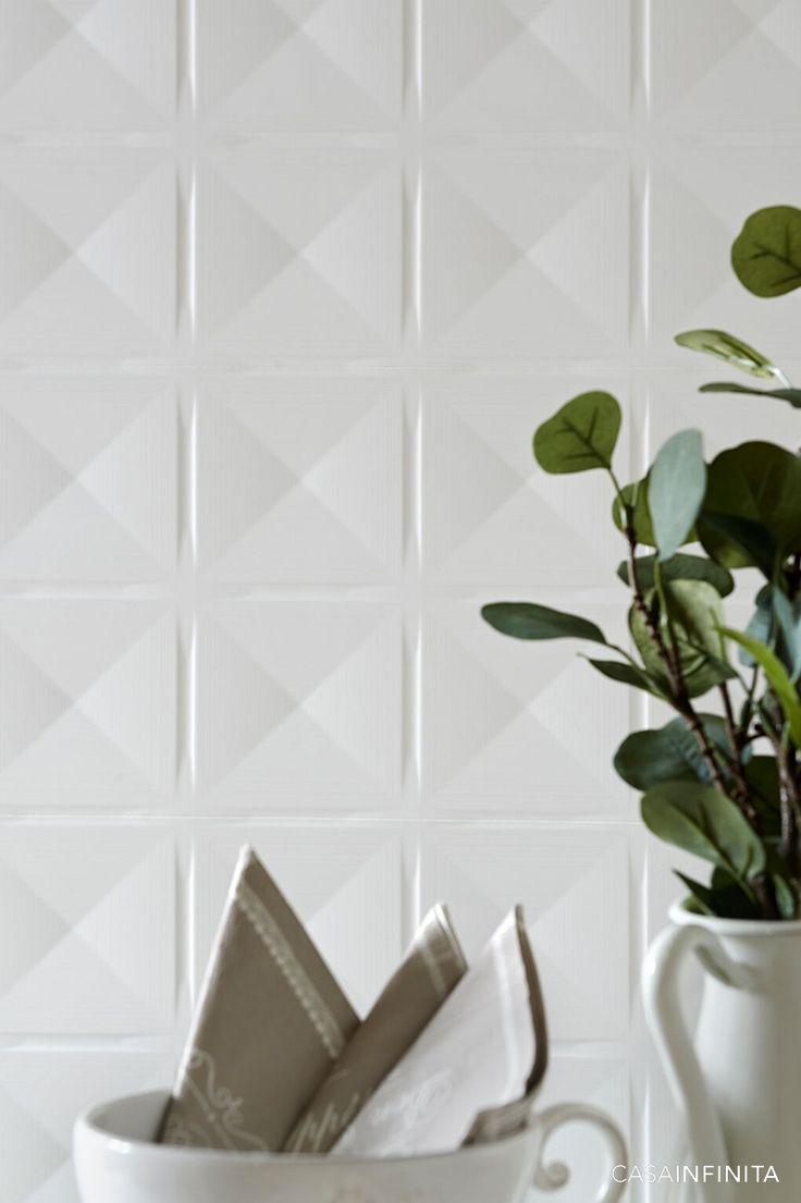#Cerámica #3D #Relieves #Blanco #TotalWhite #Inspiration #Bain #Cuisine #Cocina #Arquitectura #Interiorismo #DECO #HOMEDECO #Decoración