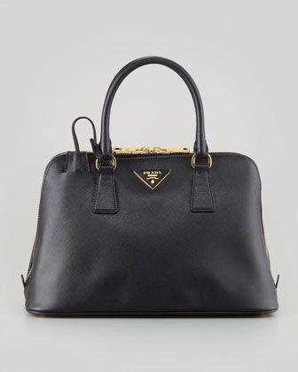 7450885df7f3 Saffiano Small Promenade Crossbody Bag, Black by Prada at Neiman Marcus.  #Pradahandbags