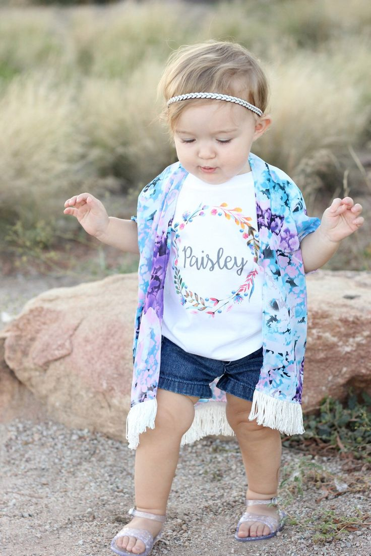 Custom Baby Girl Onesie, Custom Toddler Shirt, Monogram Baby Girl, Newborn Girl Outfit, Baby Bodysuit, Floral Design, Personalize Onesie by TrendyCactus on Etsy https://www.etsy.com/listing/241583934/custom-baby-girl-onesie-custom-toddler