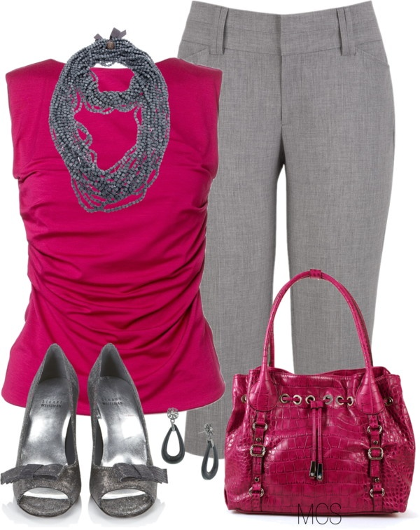 """""""Pink and Grey"""" by mclaires on Polyvore"""