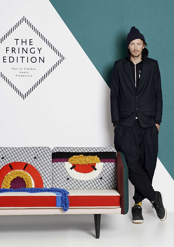 Henrik Vibskov meets Fredericia — The Fringy Edition — Special Edition of the Borge Mogensen's sofa No. 1