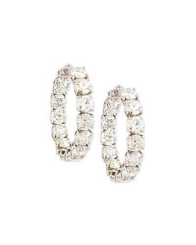 Roberto Coin 18K White Gold Perfect Diamond Hoop Earrings