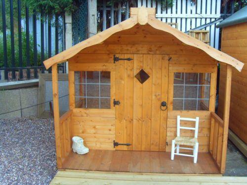childrens wooden playhouse | eBay