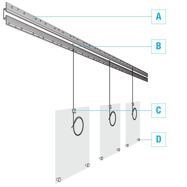 Stylish Hanging Display System Built Into The Wall Wall Display Hanging